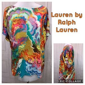 Lauren by Ralph Lauren Colorful S/S Shirt